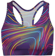 Colorful Waves Sports Bra-WELLNESS HEAVENS
