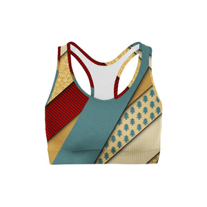 Golden Present Sports Bra - WELLNESS HEAVENS
