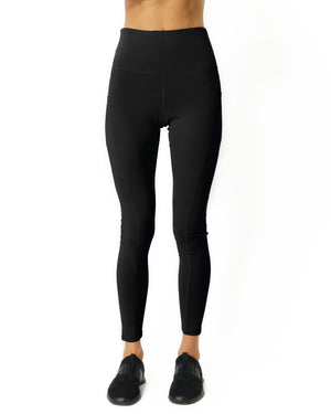 High Waisted Yoga Leggings - Black - WELLNESS HEAVENS
