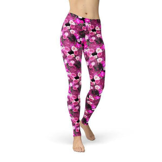 Jean Pink Magenta Flowers - WELLNESS HEAVENS