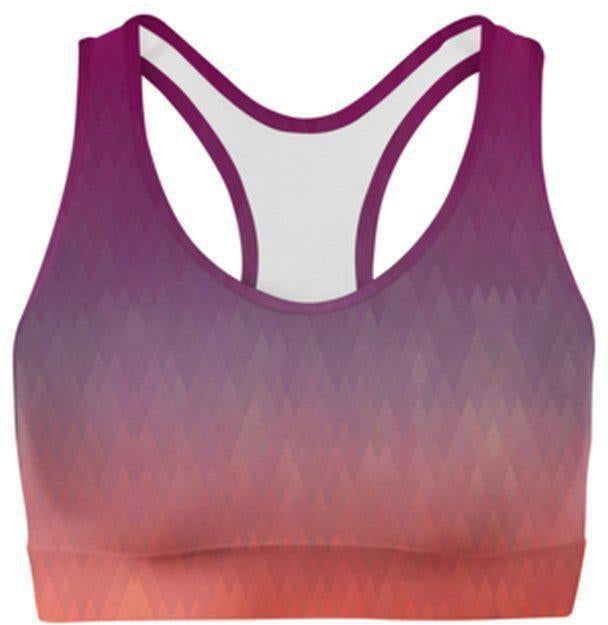 Maroon Diamonds Sports Bra-WELLNESS HEAVENS