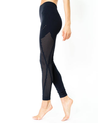 Milano Seamless Legging - Black [MADE IN ITALY] - WELLNESS HEAVENS