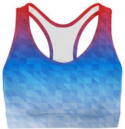 Mixed Triangles Sports Bra-WELLNESS HEAVENS