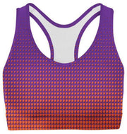 Orange Dots Sports Bra-WELLNESS HEAVENS