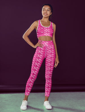 Pink Mermaid Fitness Set - WELLNESS HEAVENS