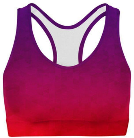 Stained Triangles Sports Bra-WELLNESS HEAVENS
