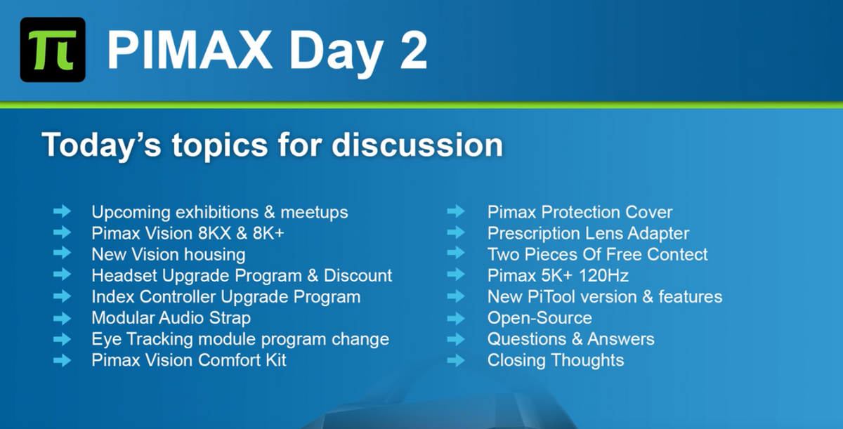 Official Pimax Day 2 Announcements
