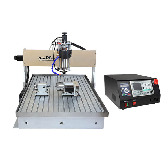 EU&US Free Tax Free shipping CNC 6090 4 Axis 2.2KW Mach3 USB DSP controller cnc router with sink cooling system