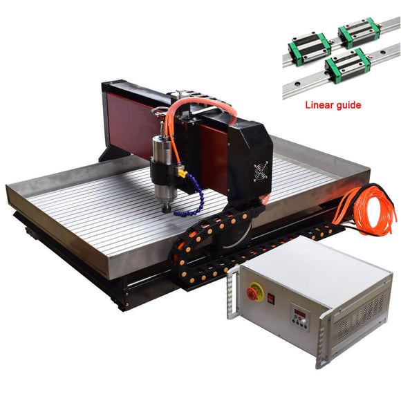 EU&US Free Tax Free shipping Steel cnc machine 6090 2.2KW 3axis Mach3 USB cnc metal router For Steel Brass Copper Aluminum Jade