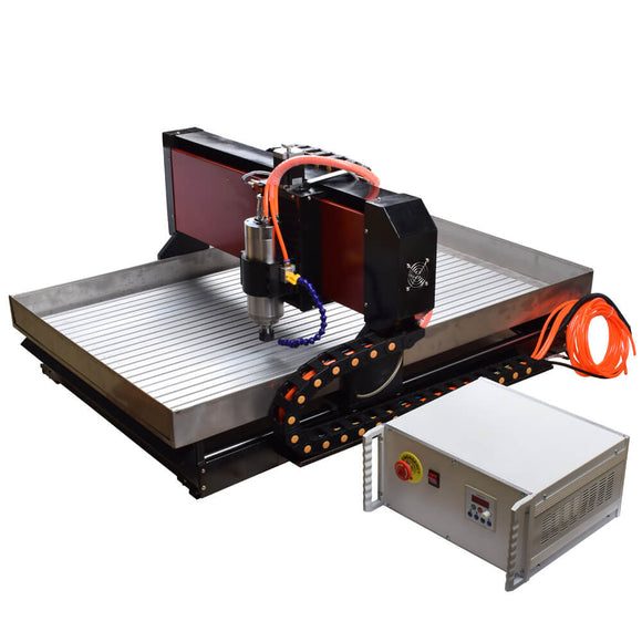 Free shipping Steel cnc machine 6090 2.2KW 3axis Mach3 USB cnc metal router For Steel Brass Copper Aluminum Jade