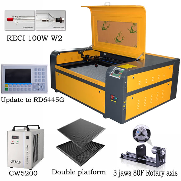 Laser RECI 100w laser engraving machine SL-1080 co2 laser engraving machine 220V laser cutter machine diy CNC engraving machine