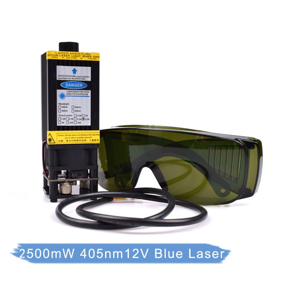 Laser head 2.5w/3500mw/5500mw/7w 405nm 12V Blue Laser For DIY CNC Laser engraver