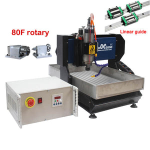 EU&US Free Tax Free shipping | 4 axis cnc router | cnc metal milling machine | linear guide | 3040 metal working high accuracy