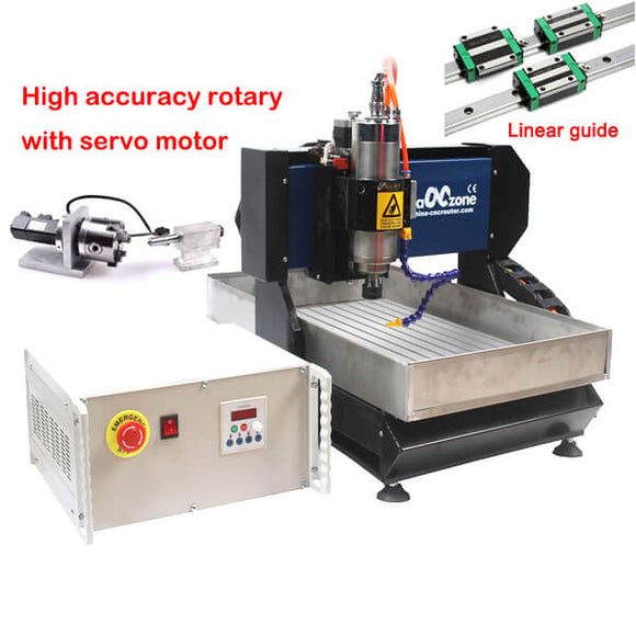 4 axis cnc router | cnc metal milling machine | linear guide | 3040 metal working high accuracy