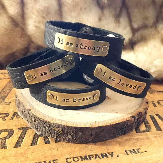 Leather Bracelet by Buffalo Girl Salvage