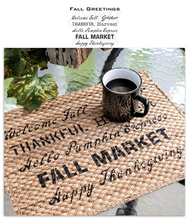 Load image into Gallery viewer, Fall Greetings by Funky Junk  Old Sign Stencil