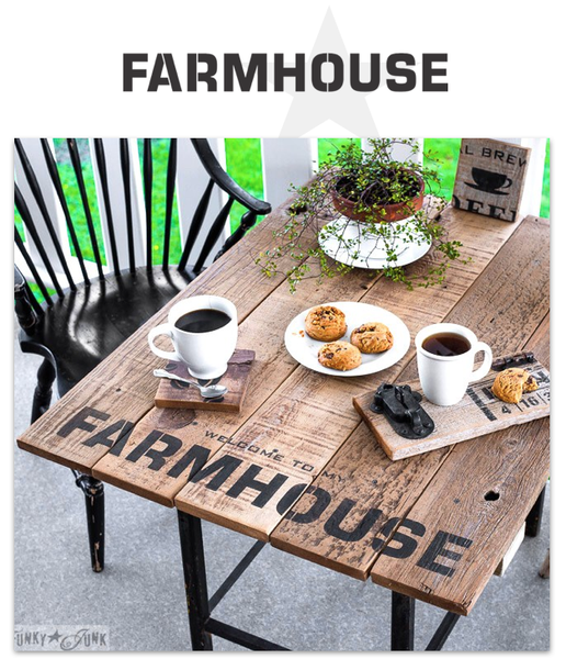 Farmhouse Stencil By Funky Junk Old Sign Stencils