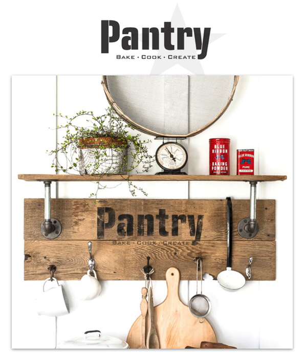 Pantry Sign By Funky Junk Old Sign Stencils