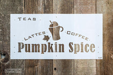 Load image into Gallery viewer, Pumpkin Spice Latte Stencil By Funky Junk Old Sign Stencils