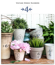 Load image into Gallery viewer, Vintage Crock Numbers BY Funky Junk  Old Sign Stencils