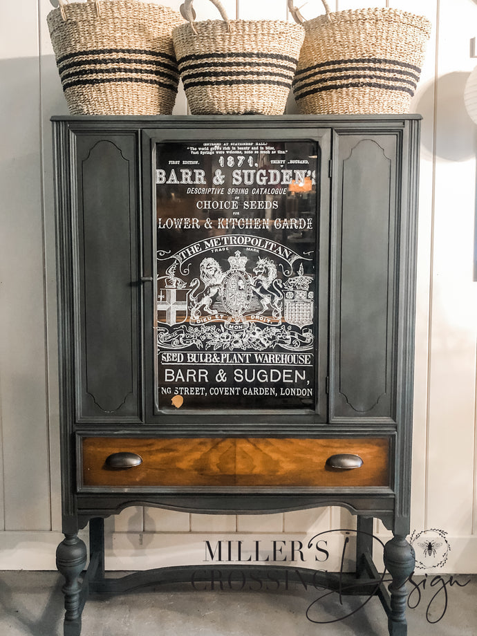 Hand Painted Whiskey Cabinet