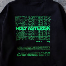 Load image into Gallery viewer, Holyasterisk Black/Neon Green Sweater