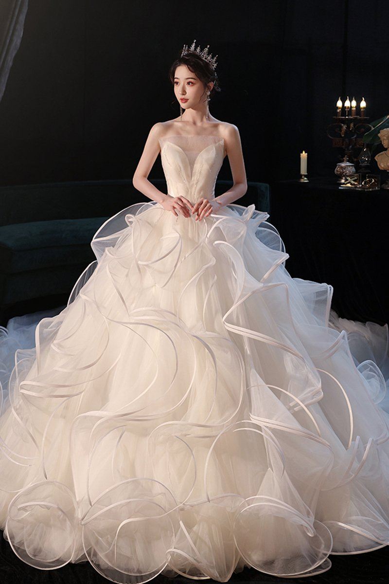 2020 New Trailing Temperament Forest Wedding Dress Brides