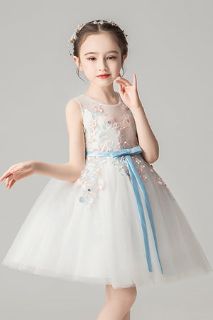 A-Line Appliques Sweet Lace Princess Dress Flower Girl Dresses