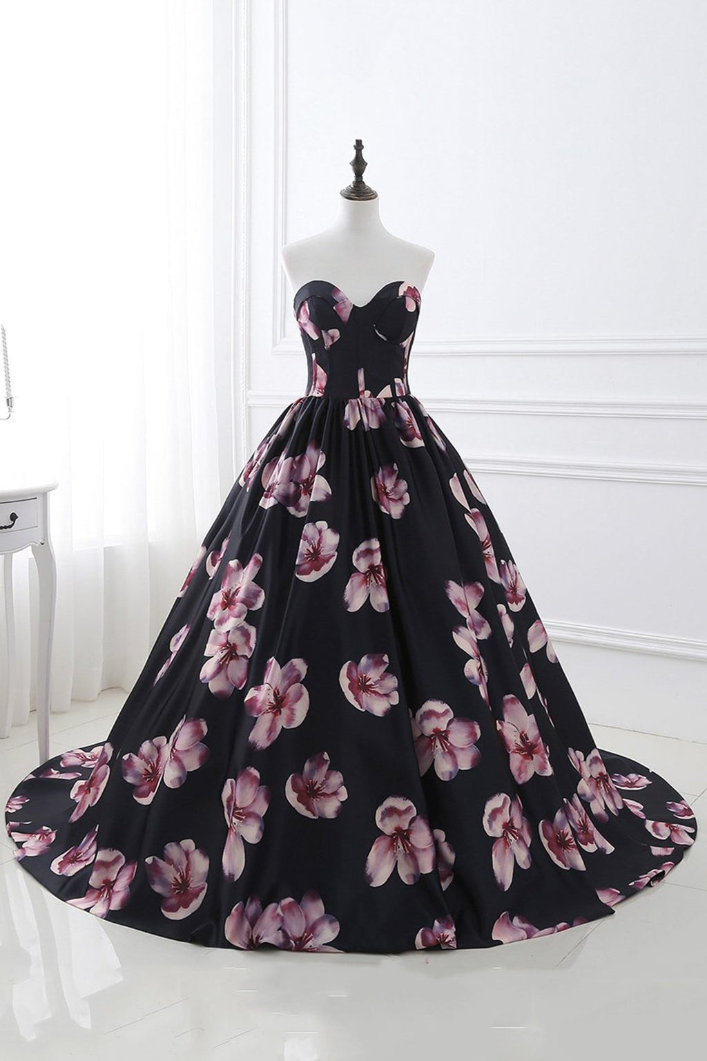 Bandeau Big Print Tutu Wedding Dress Wedding Dress