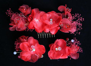 Bridal Headdress Red Toast Hair Accessories Set Accessories