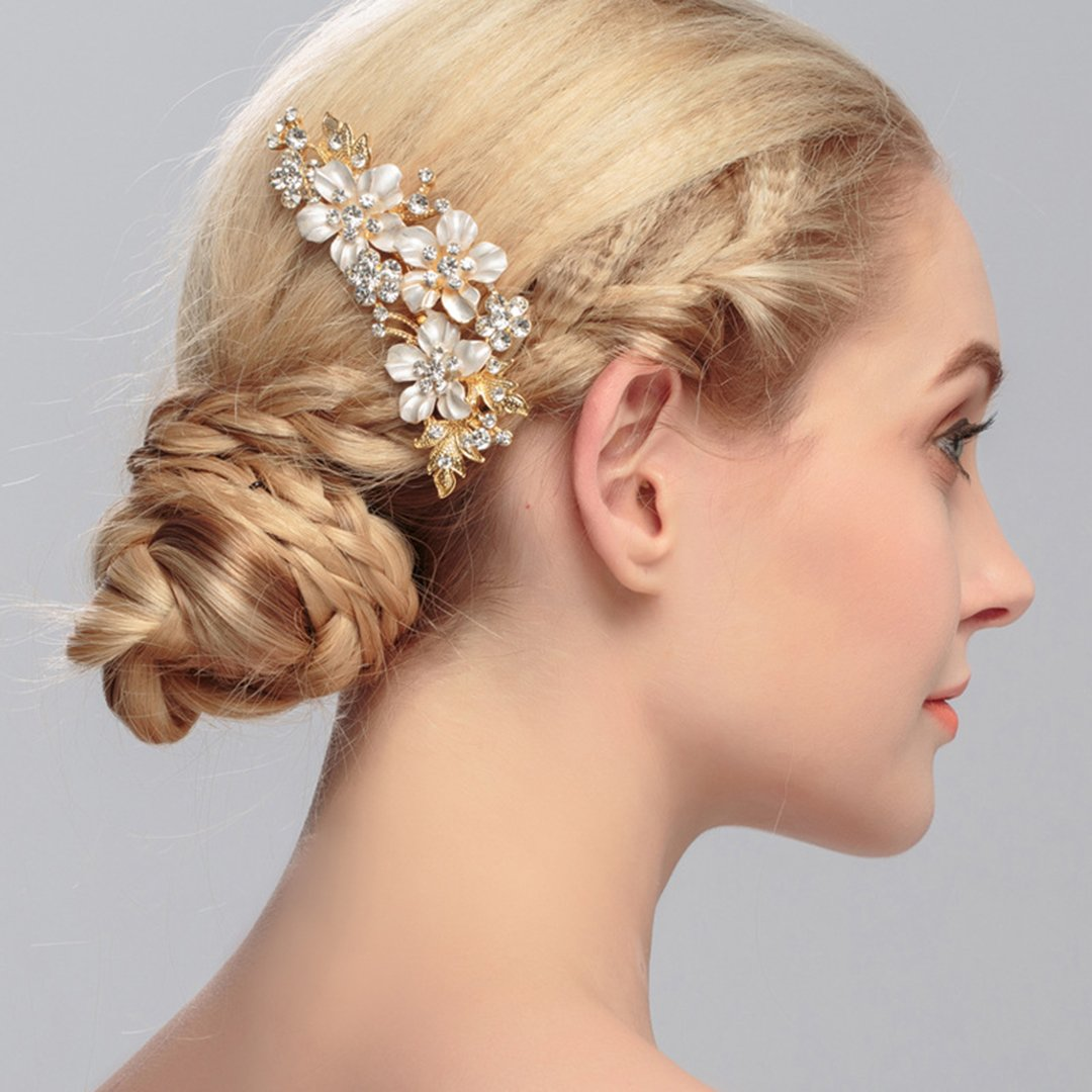 Bridal Rhinestone Comb Headpiece Accessories Hair Combs