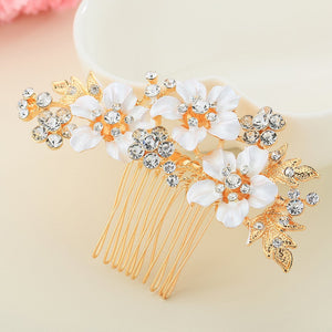 Bridal Rhinestone Comb Headpiece Accessories Hair Combs Gloden