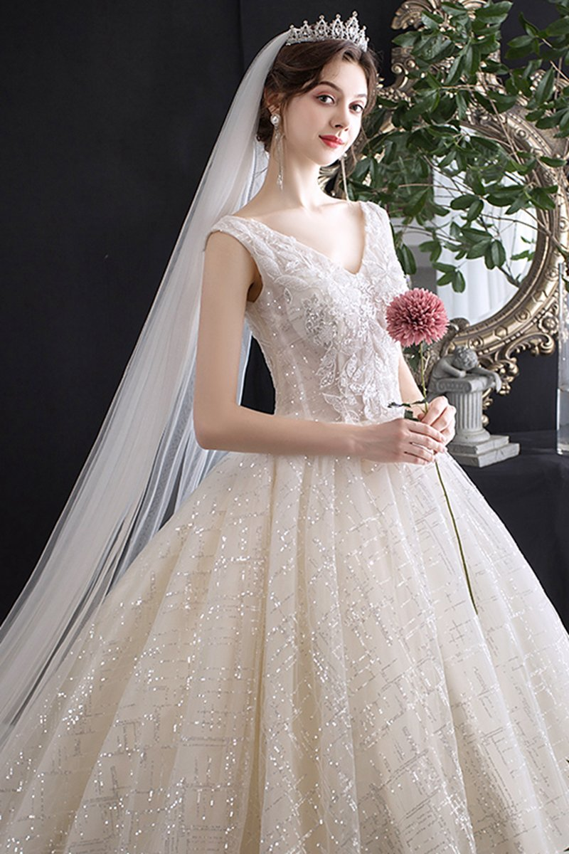 Bridal Temperament Trailing French Wedding Dress Brides Light Champagne Qi Ground Style