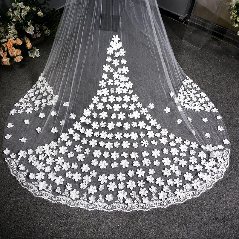 Bridal Veil Wedding Long Tail Lace Veil Wedding Veil Bridal Veil