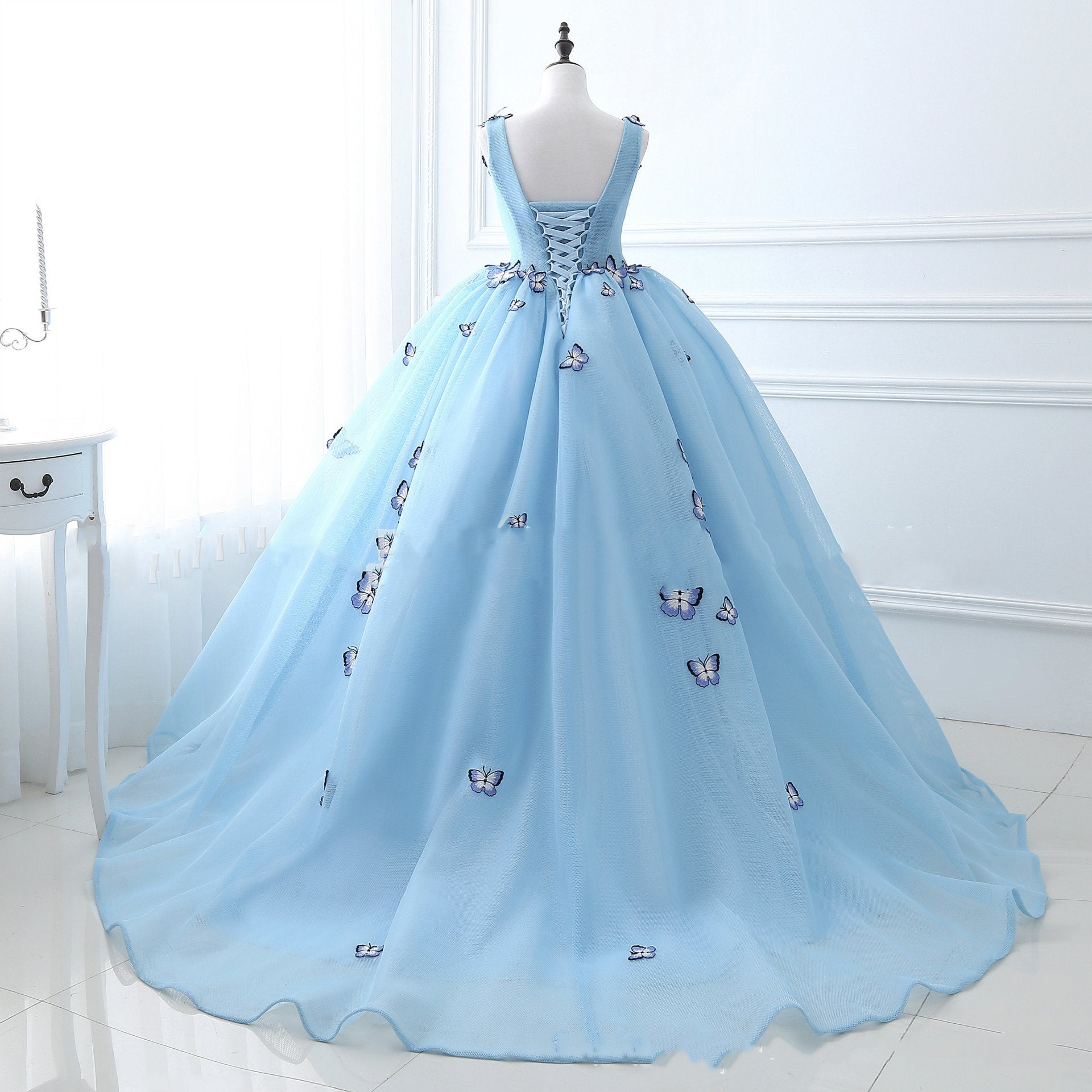 Butterfly Fluffy Tail Wedding Evening Dress Cross-Border E-Commerce Wedding Dress Evening Dresses