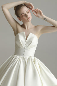 Cathedral Train Strapless Fantastic Wedding Dress Wedding Dress US2 A
