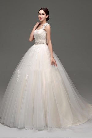 Champagne Big Bow Lovely Wedding Dress Wedding Dress