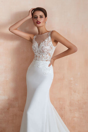 Court Train Mermaid Sexy Wedding Dress Wedding Dress
