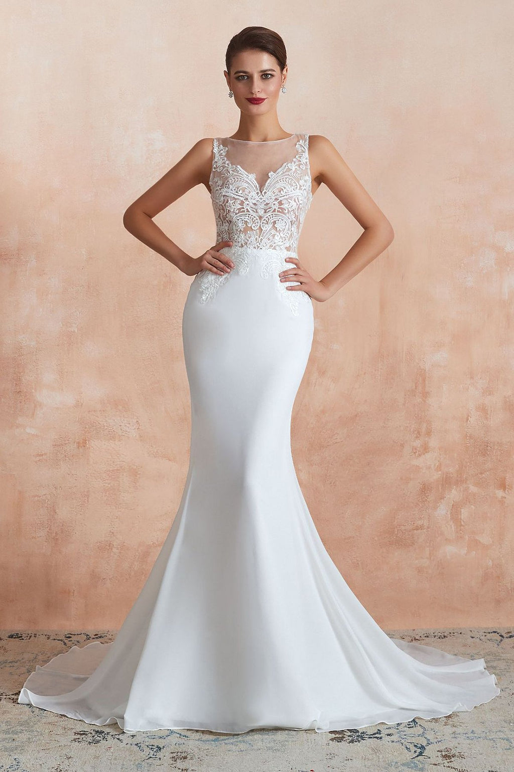 Court Train Mermaid Sexy Wedding Dress Wedding Dress US2 White