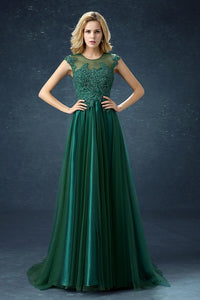 Dark Green Elegant Short Sleeves Lace Mother of the Bride Dress Mother of the Bride Dresses US2 Dark Green