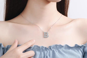 Diamond Clavicle Chain 26 English Alphabet Necklace Accessories B