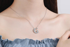 Diamond Clavicle Chain 26 English Alphabet Necklace Accessories G