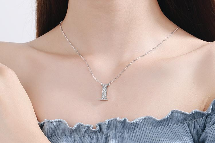 Diamond Clavicle Chain 26 English Alphabet Necklace Accessories I