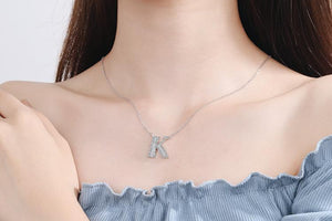 Diamond Clavicle Chain 26 English Alphabet Necklace Accessories K
