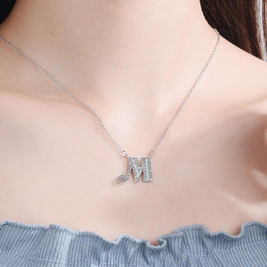 Diamond Clavicle Chain 26 English Alphabet Necklace Accessories M