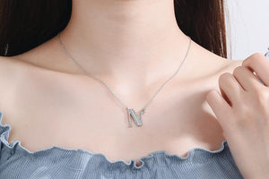 Diamond Clavicle Chain 26 English Alphabet Necklace Accessories N