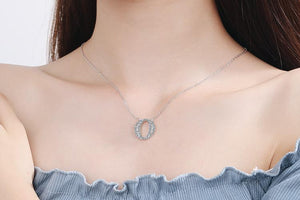 Diamond Clavicle Chain 26 English Alphabet Necklace Accessories O
