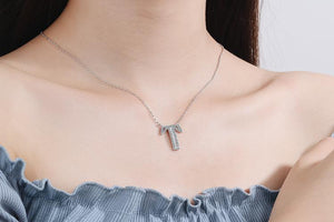 Diamond Clavicle Chain 26 English Alphabet Necklace Accessories T