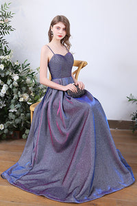 Elegant Backless High-end Luxuious Evening Dress Evening Dresses 2 Blue