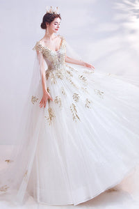 Elegant Lace Princess Bride Big Tail Wedding Dress Brides xs